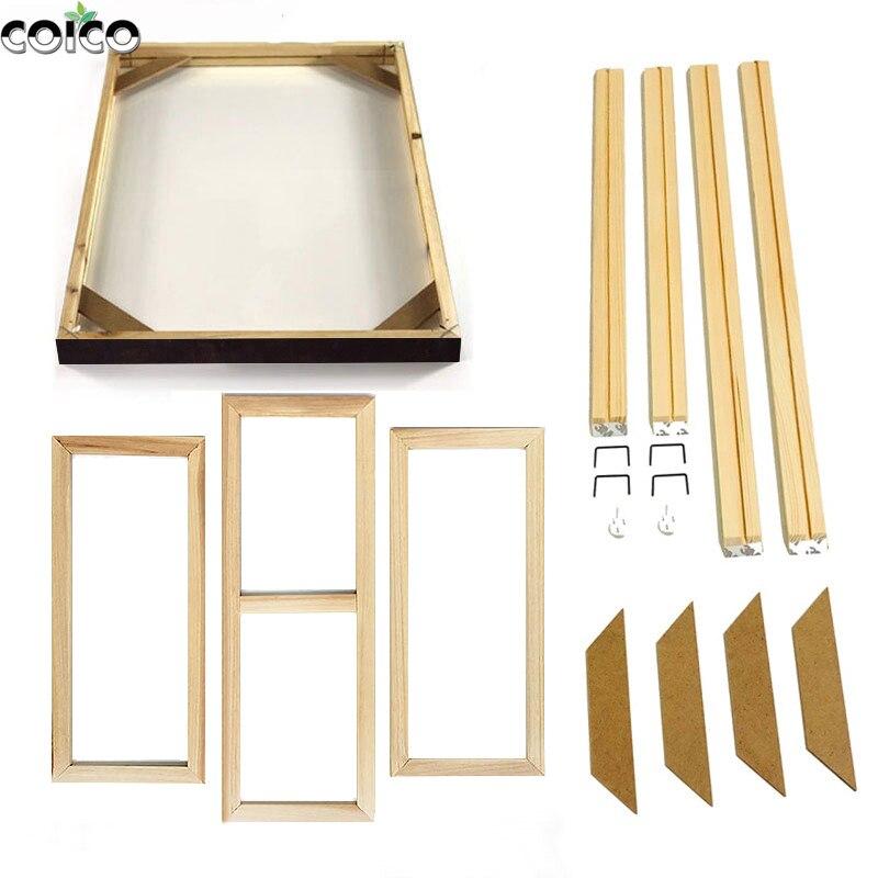 Деревянные рамки для картин, настенная рамка на холсте, натуральная деревянная фоторамка «сделай сам» большого размера для изготовления на...