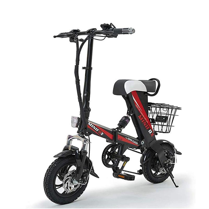 Bicicleta eléctrica plegable inteligente para adultos 12 pulgadas Mini bicicleta eléctrica 36V 8A batería ciudad e Bike 250W potente ebike 25 km/h sctooer