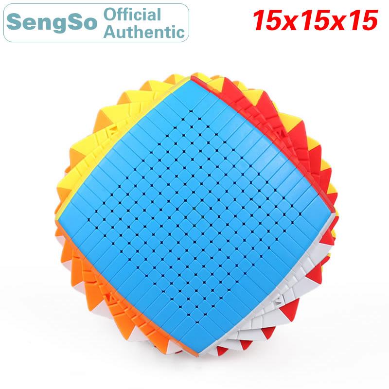 ShengShou 15x15x15 المكعب السحري Stickerless 15x15 سرعة لغز ضد الإجهاد ملتوي لغز لعبة تعليمية للأطفال مع صندوق هدية