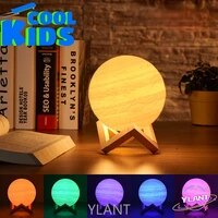 swt new rechargable planet night light for bedroom decoration 3d printing earth lamp galaxy lamp valentines childrens gift