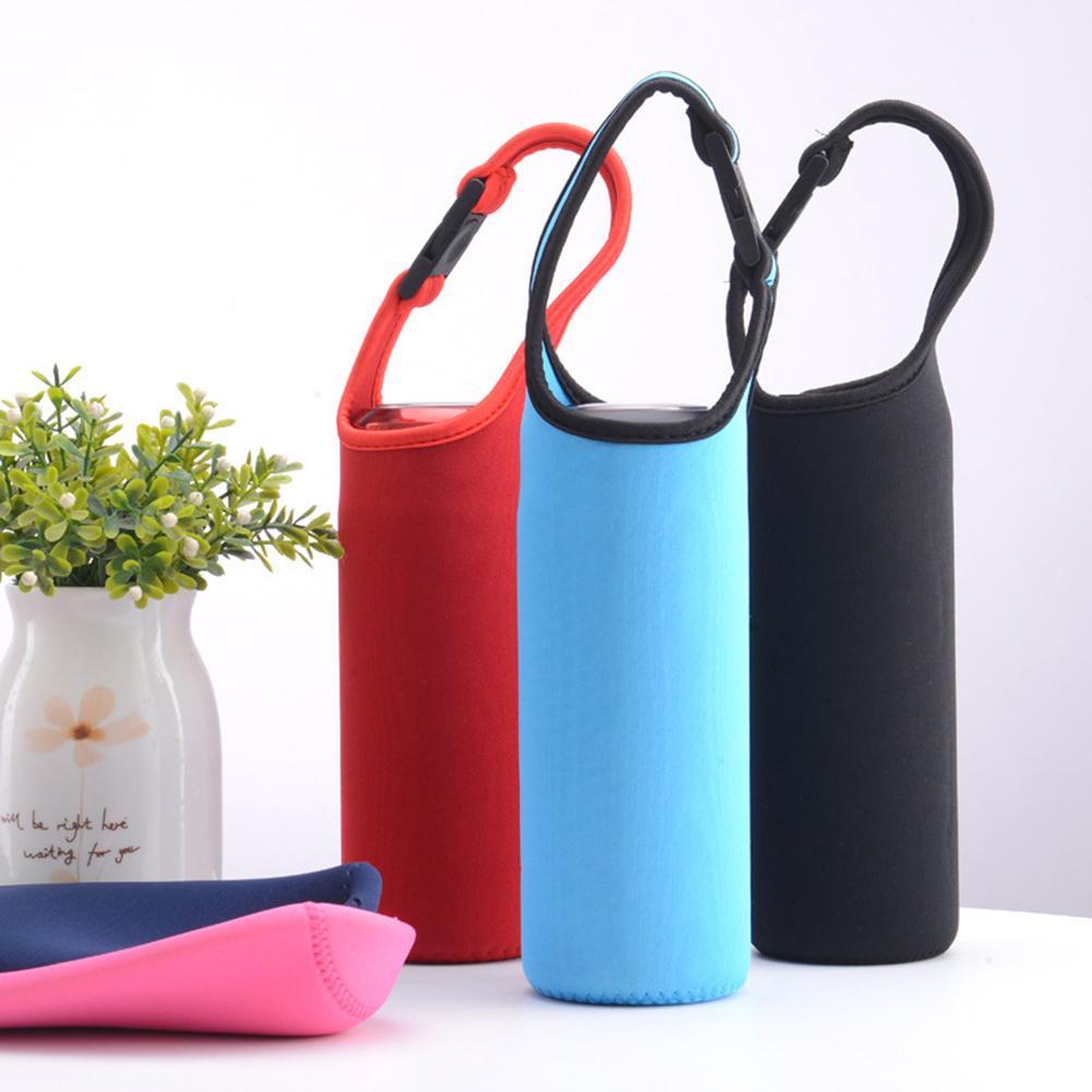 1 Uds. Botella de agua deportiva portátil cubierta aislante funda bolsa para 500ml botellas taza bolsa Camping Drinkware Accesorios