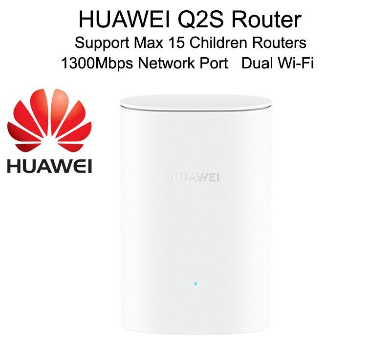 2020 nowe wysokiej klasy routery HUAWEI Wifi Q2S podwójne WiFi Gigabit bezprzewodowy Port RJ45 routery rodzic-dziecko wsparcie 15 dzieci Router