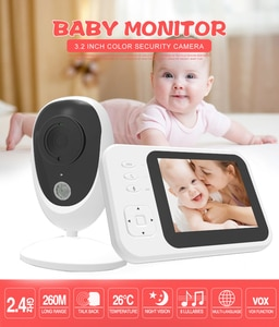 3.2 Inch 2.4G  Long Distance  Wireless Video 2 Way Intercom  Baby Monitor  Nanny Security Camera
