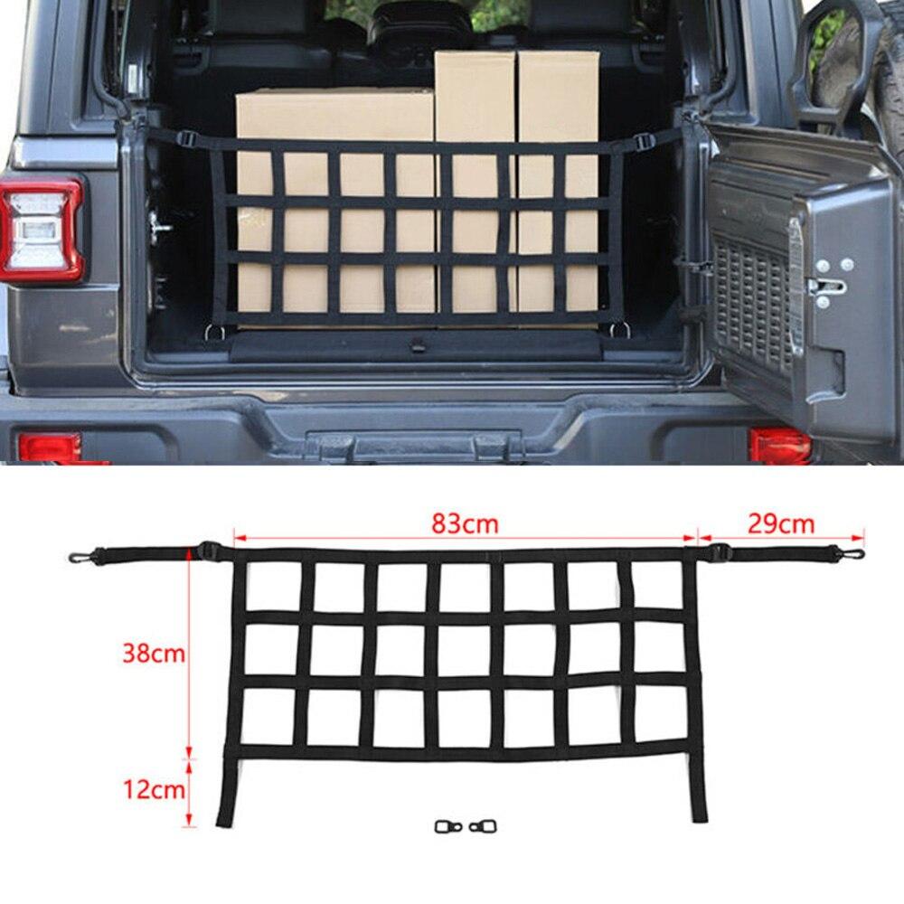 Coche DIY maletero trasero equipaje de carga malla bloque Red de bisel para Jeep Wrangler JK JL 2007-2019 accesorios de estilo de coche