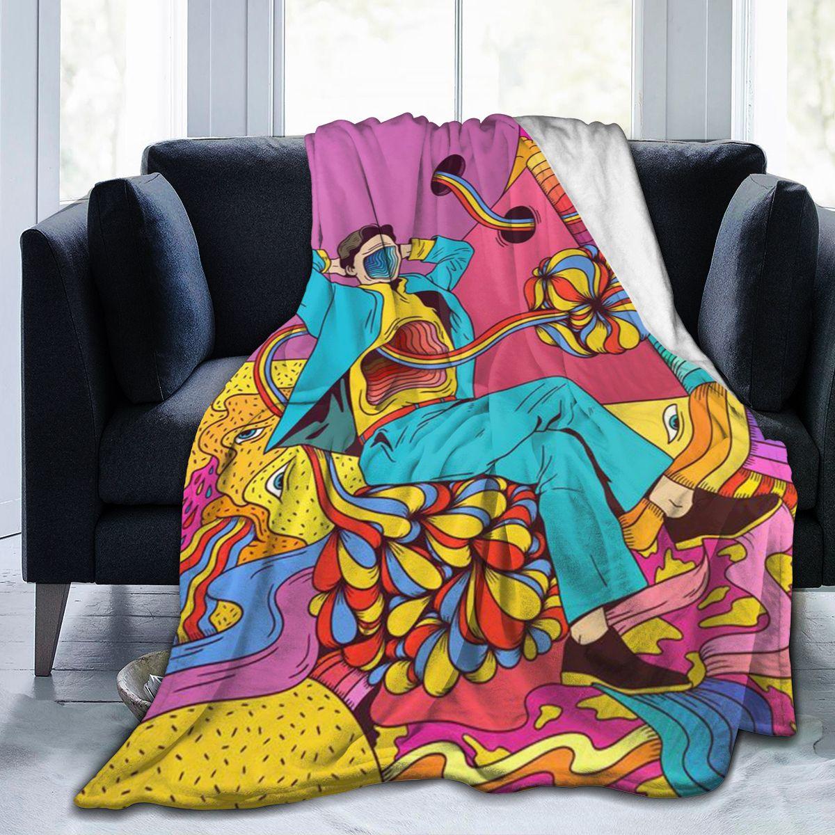 الترا لينة أريكة غطاء بطانية بطانية الفراش الكرتون الكرتون الفانيلا plied أريكة ديكور غرفة نوم للأطفال والكبار 2665431