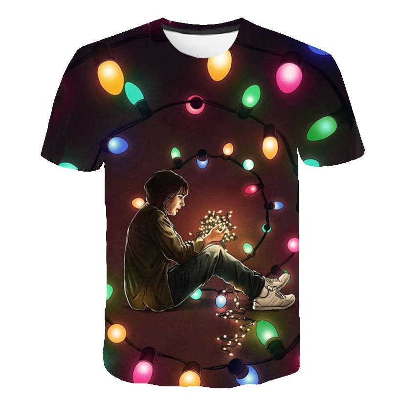 2020 new 3D printed t shirt Stranger Things 3 tshirt kid's children's Short sleeve Tops Hot Tv series Camiseta kid's shirt boys