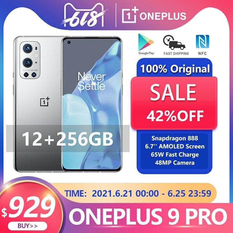 Оригинальная глобальная прошивка Oneplus 9 Pro 5G смартфон 12 Гб 256 Snapdragon 888 120 Гц жидкости Дисплей Octa Core 65 Вт, сделана в городе Чжуншань, быстрая заря...