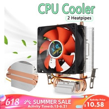 8cm 80mm 미니 2 히트 파이프 PC CPU 쿨러 히트 싱크 컴퓨터 냉각 팬 LGA 775/1155/1156 AMD AM2 AMD3 무료 배송