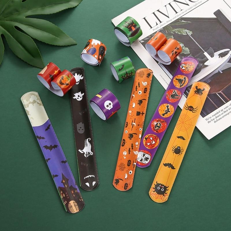 T5EC 30 шт. Хэллоуин Хлопушка браслет Детские игрушки на Рождество аксессуары для девочек смешные подарки интерактивные подарки на Хэллоуин