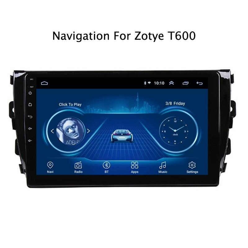 """9 """"Pantalla táctil superfino Android 10,0 radio de coche navegación GPS para Zotye T600 2014 estéreo Multimedia Bluetooth unidad principal wifi"""