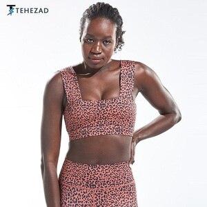 TEHEZAD Women Sport Bra Yoga Top  Gym Running Underwear Large Size Workout Female Clothing Tank Ladies  Camis Fitness Push Up