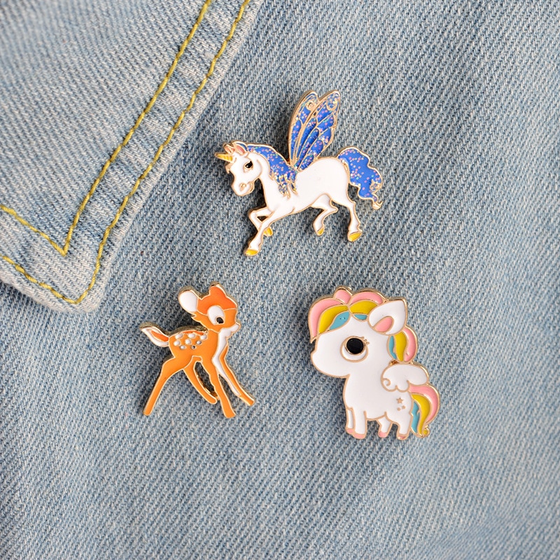 Animal series sheep wings horse naughty dog shark tiger fox naughty cat love naked frog enamel pin jewelry backpack brooch gift  - buy with discount