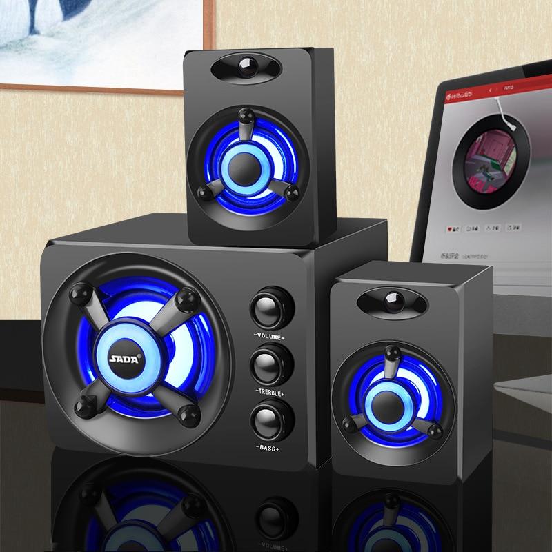 Gama completa subwoofer estéreo 3d 100% baixo alto-falante do computador portátil de música usb alto-falantes do computador para o portátil tv casa alto-falante led
