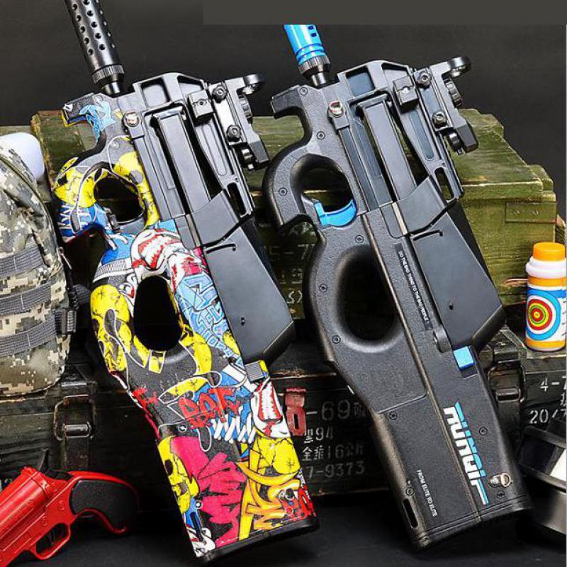 Electric Gun Water soft bullet  Air Gun Graffiti Boys Gifts Shoot BB Gun Gel Ball Polymer Toy  Cs Game pistol Toys BB Gun