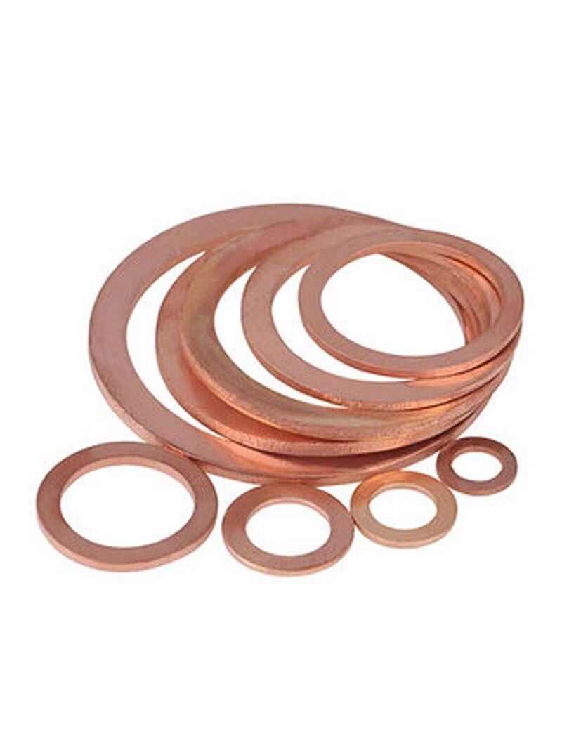 10 peças m13 ultra-fino cobre arruelas planas juntas cuprum arruela gaxeta 39mm-41mm diâmetro exterior 0.1mm-1mm espessura