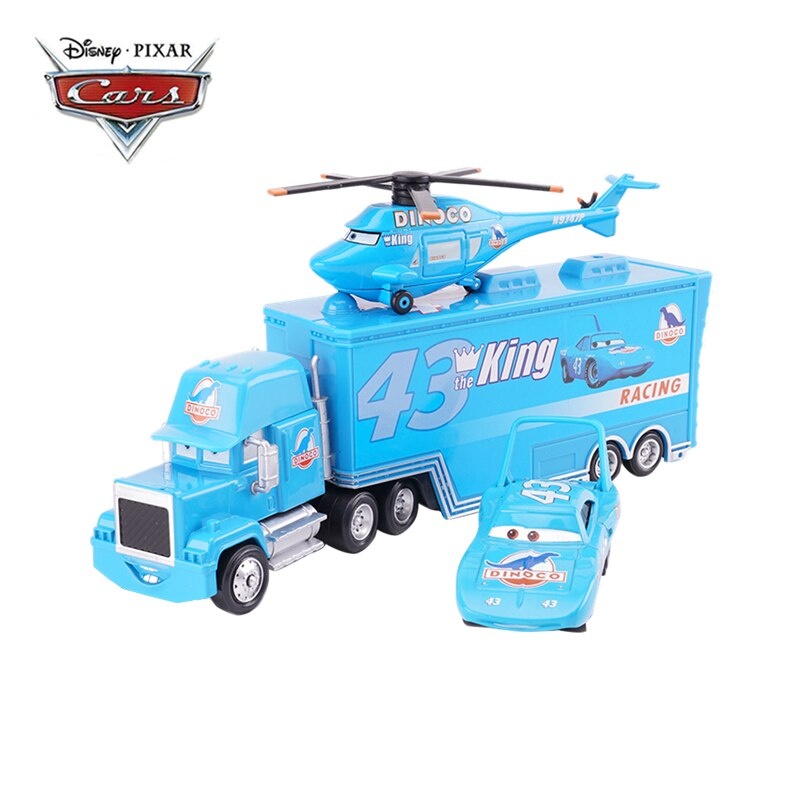 Disney Pixar Cars 2 3 Toys Lightning McQueen King Aircraft The king Mack Uncle Truck 1:55 Diecast Model Car Toy Children Gift pixar planes 1 55 10 12cm no 72 skipper dusty crophopper the king ishani shipboard aircraft echo metal diecast toy plane loose