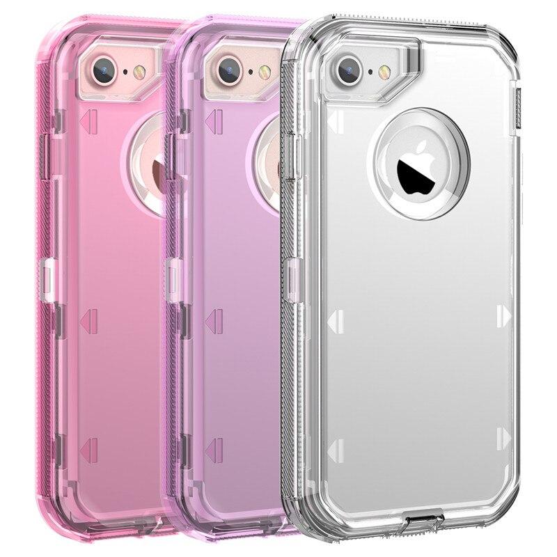 Carcasa resistente lisa de cristal 360 transparente para iPhone 11 Pro Max XR XS Max X 8 7 6S Plus PC + TPU funda transparente para iPhone 11