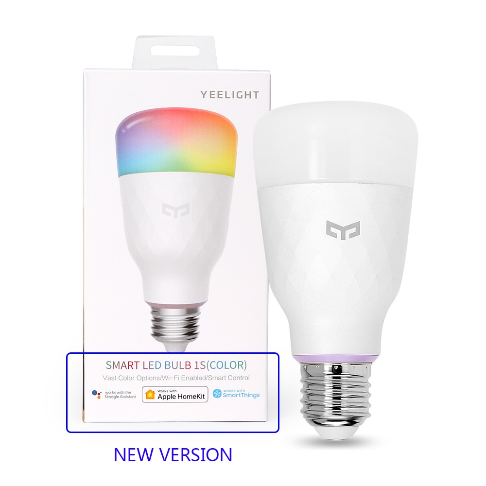 Yeelight умная лампа Yeelight умная Светодиодная лампа 1S цветная лампа 800 люмен 10 Вт E27 для Apple Homekit Mi Mijia App Google Assistant