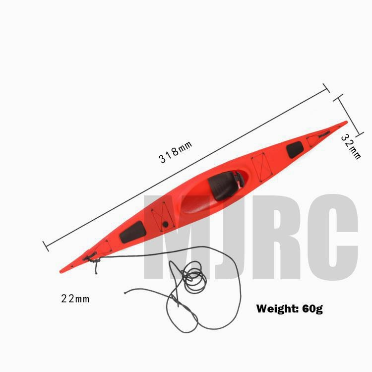 High quality mould version kayak simulation boat for 1/10 RC tracked vehicles Traxxas TRX4 D90 TRX6 Axial Scx10 90046 Bronco enlarge