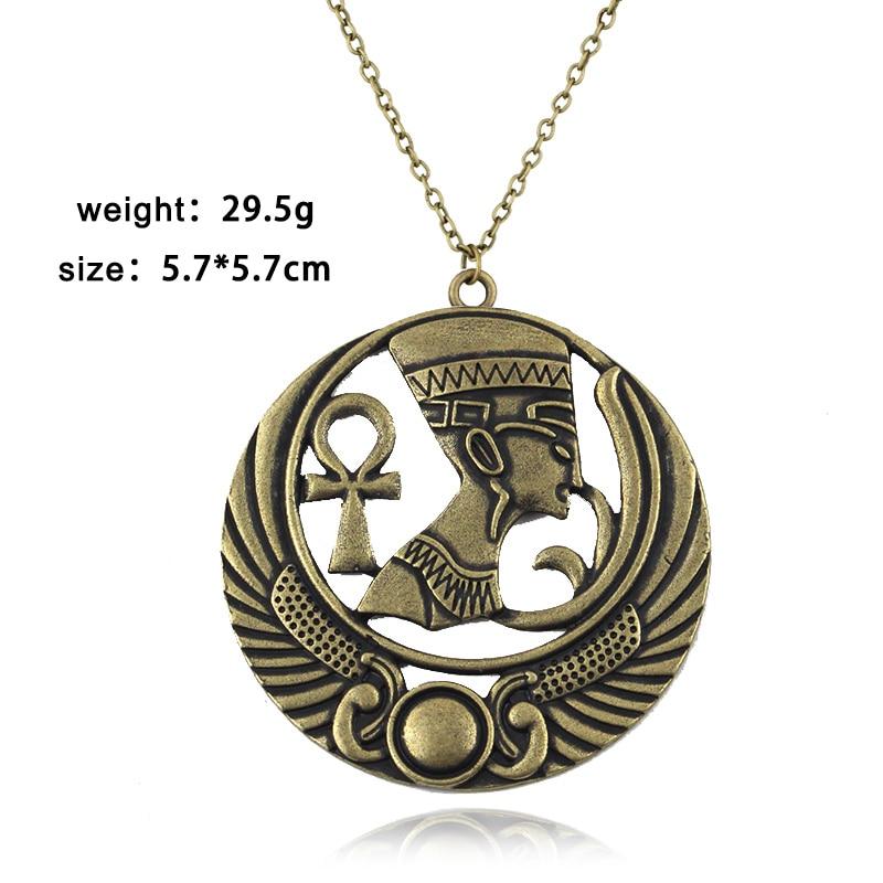 Novo boho colar egípcio rainha egito nefertiti faraó ankh escaravelho pingente vintage charme colares presente para as mulheres