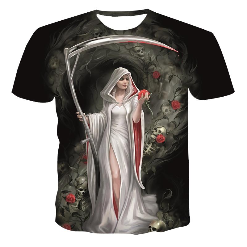 AliExpress - 2021 Summer Men's 3D Printed T-Shirt Brand Punk Style Fluorescent Angel 3DT Shirt Men's Top Short Sleeve Hip Hop O-Neck Clothing