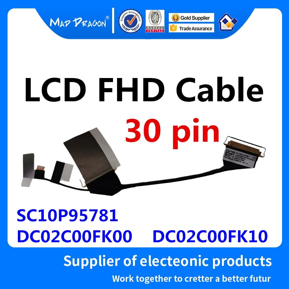 كابل Lcd أصلي جديد Lvds Wire Line LCD FHD لجهاز Lenovo Thinkpad RT1 FRU: SC10P95781 DC02C00FK00 DC02C00FK10
