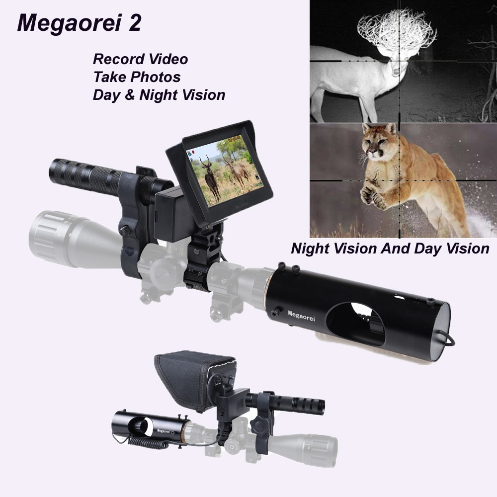 Tactical 850nm Infrared Night Vision Scopes Rifles Hunting Optics Sight Waterproof  400M Outdoor Hunting Camera Can Photos Video