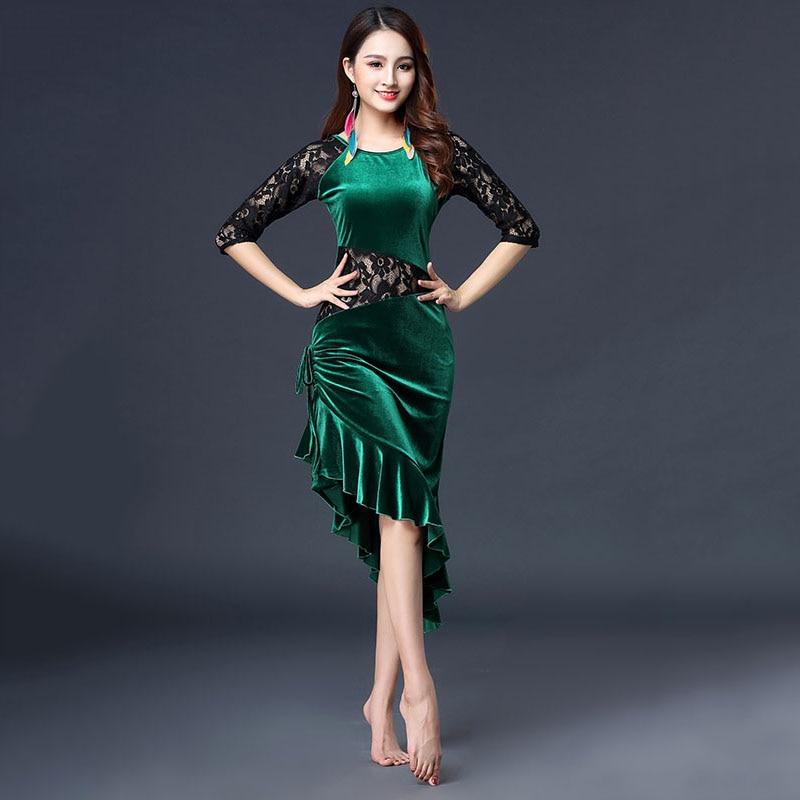Traje de danza del vientre mujeres encaje costura Bollywood vestido de la India ropa de práctica de la danza del vientre ropa de actuación de las señoras DC3539