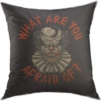 mugod decorative throw pillow cover colorful cartoon design scary clown funny home decor pillow case 18x18 inch