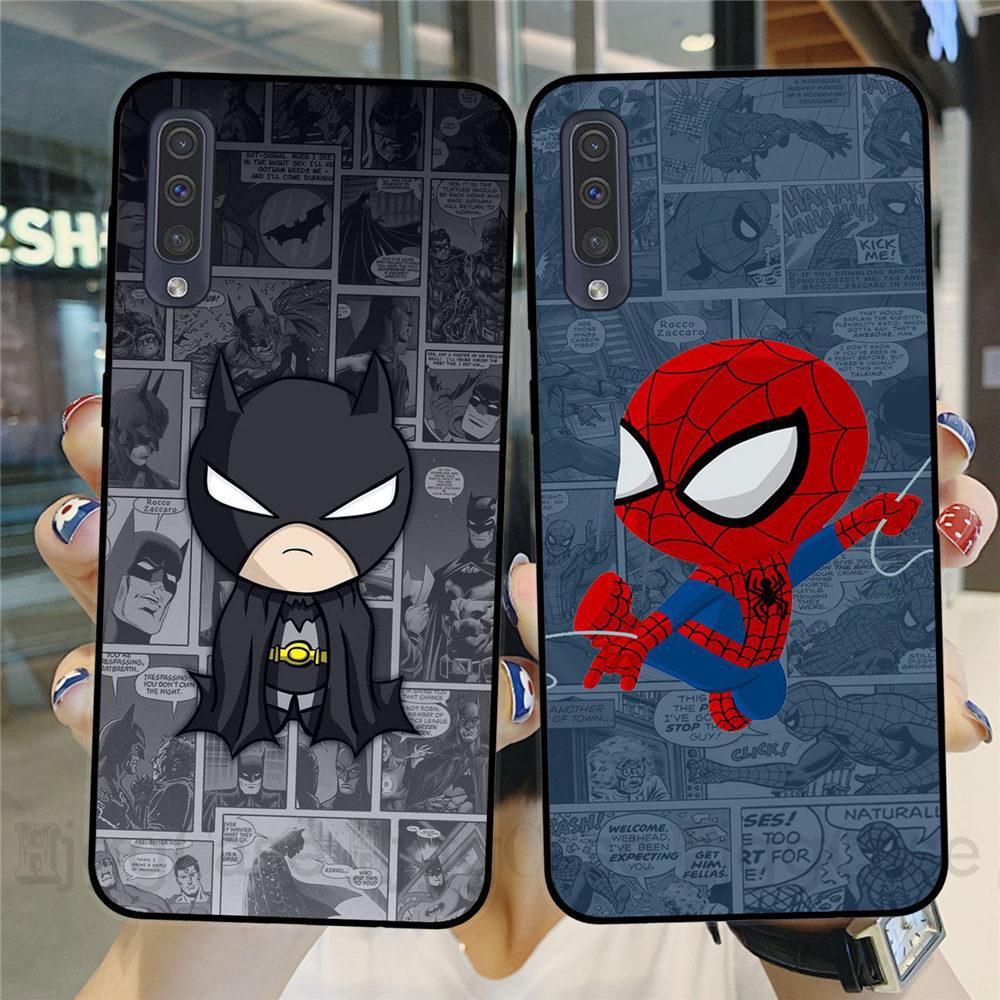 Marvel DC Comics Iron Man SpiderMan joker Batman Phone Case Cover for Samsung A10 A20 A30 A40 A50 A70 A51 A71 S10 S20 Plus Ultra