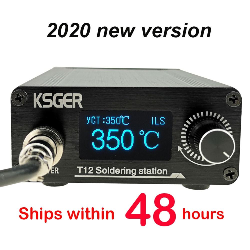KSGER T12 Soldering Station DIY STM32 V3.1S OLED Tools Soldering T12 Iron Tips Aluminum Alloy 907 Handle Metal Stand Quick Heat