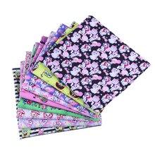 50*145CM cartoons muster Polyester baumwolle Stoff Patchwor Gedruckt für Tissue Kinder Home Textile für Nähen Puppe Kleid vorhang