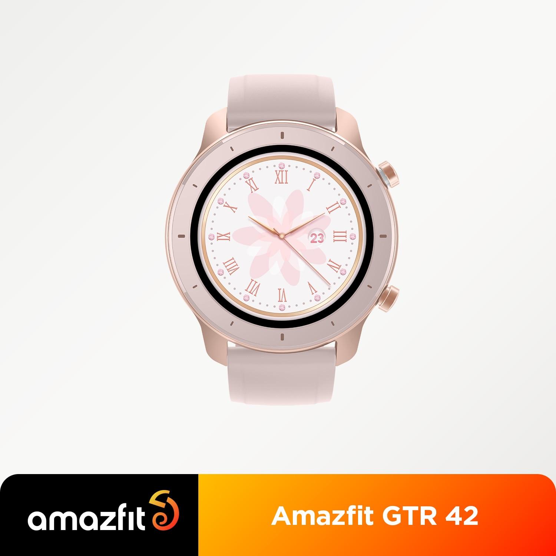 【 24h شيب】 النسخة العالمية Amazfit GTR 42 مللي متر ساعة ذكية 5ATM Smartwatch 12 أيام بطارية تحكم بالموسيقى ل IOS أندرويد