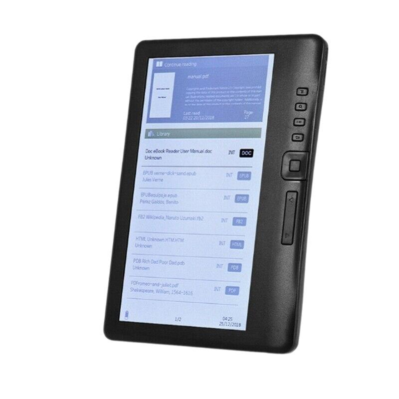 Lector de E-Book, reproductor de música MP3 y vídeo Digital de 7 pulgadas con pantalla LCD a Color y resolución HD compatible con tarjeta TF