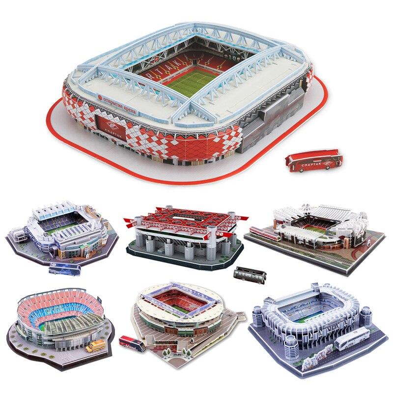 Новый DIY 3D пазл мировой футбольный стадион Европейская футбольная площадка сборная Строительная модель пазл игрушки для детей GYH