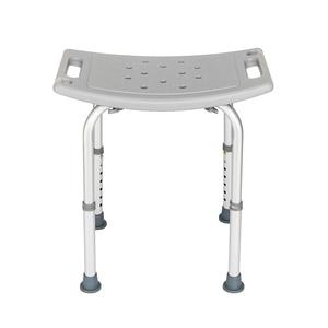 Bath Chair Bathroom Stool Aluminium Alloy Elderly without Back of a Chair Gray U.S. Stocks