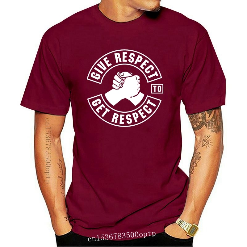 New In Summer Of 2021 Pop Cotton Man Tee Give Respect To Get Respect T Shirt Men Funny Tee Shirts Short Sleeve
