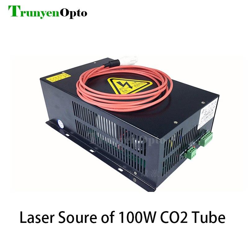 HY-W120 120 واط CO2 ليزر امدادات الطاقة 110 فولت 220 فولت العالمي PSU 100 واط Co2 مصدر الليزر لآلة القطع النقش بالليزر