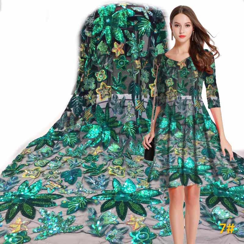 Topo novo colorido tecido de renda africano alta qualidade francês tule renda com lantejoulas projetos brilhantes festa casamento vestido noite das mulheres