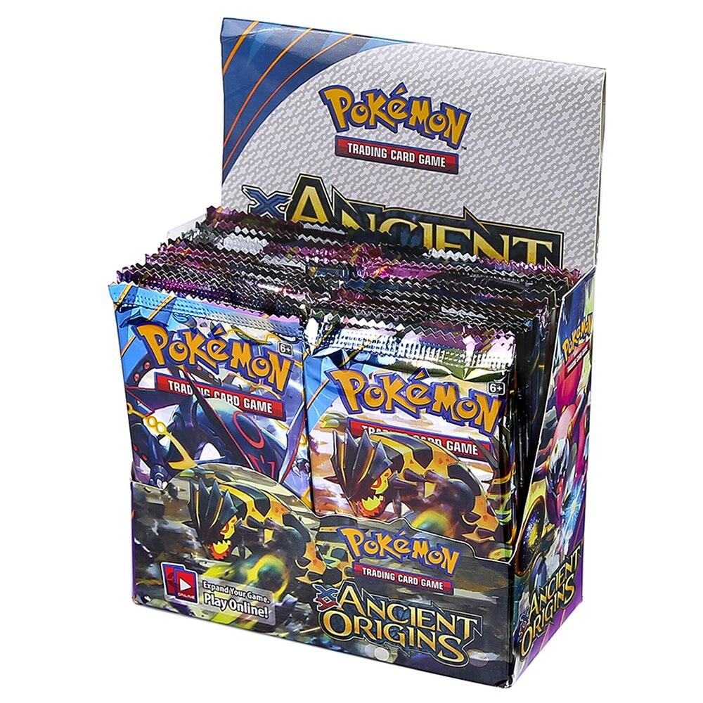 324 Uds tarjetas inglesas Pokemon antiguos orígenes GX EX Mega 36-Paquete de caja VMAX tarjeta de juego colección para niños Juguetes