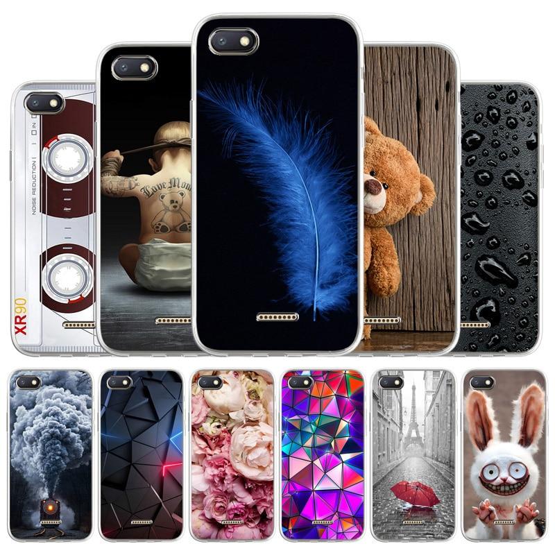 "Case For Xiaomi Redmi 6A Cases Silicon Soft Back Cover On Xiaomi Redmi 6A 6 A M1804C3CG M1804C3CH 5.45"" TPU Cool Painted Coque"