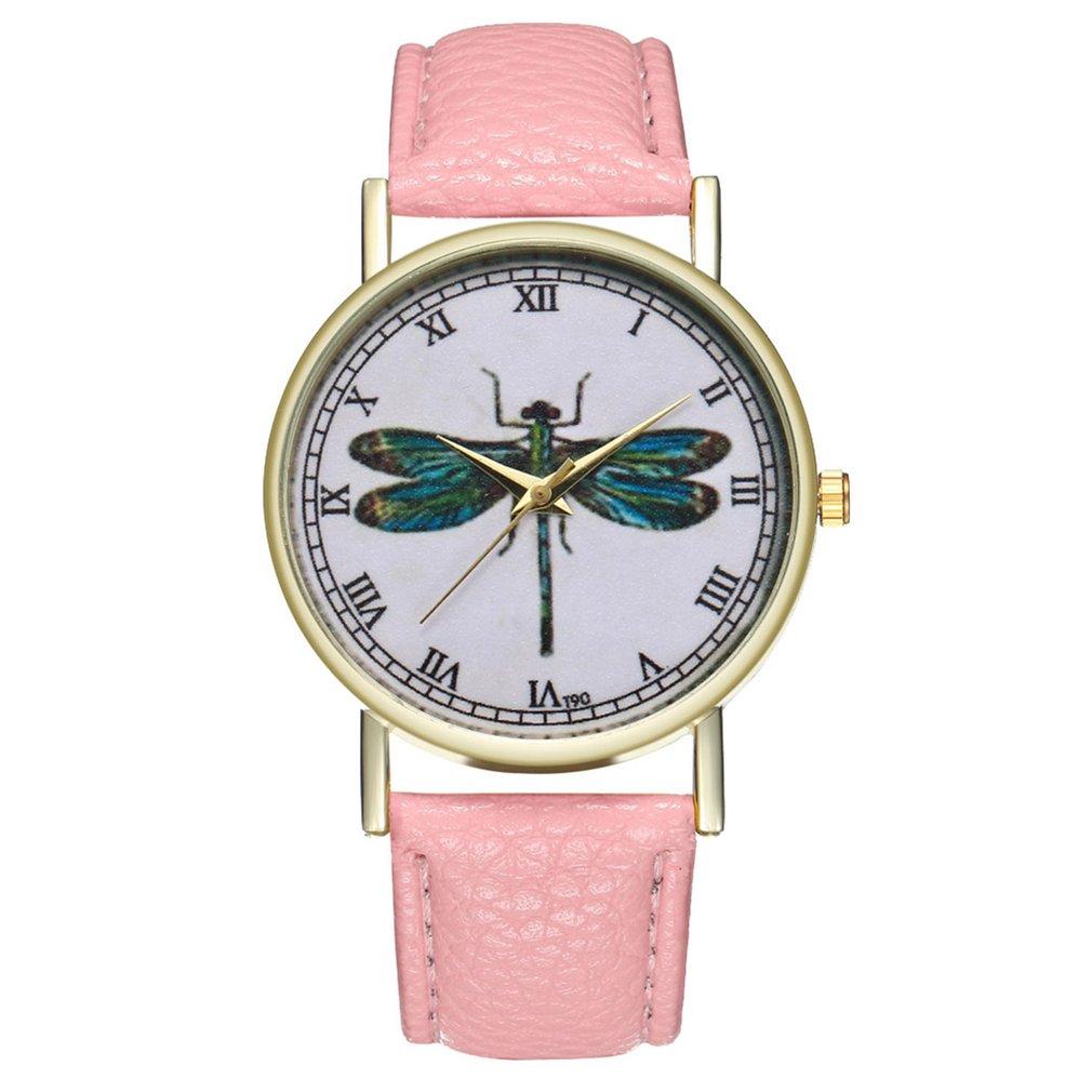 Marca de lujo, relojes para mujer, nueva moda 2018, damas casuales, cuero de imitación, cuarzo, analógico, Reloj de pulsera para mujer, Reloj femenino
