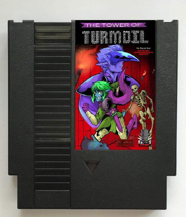 Cartucho de juego de la torre de agitación para la consola NES