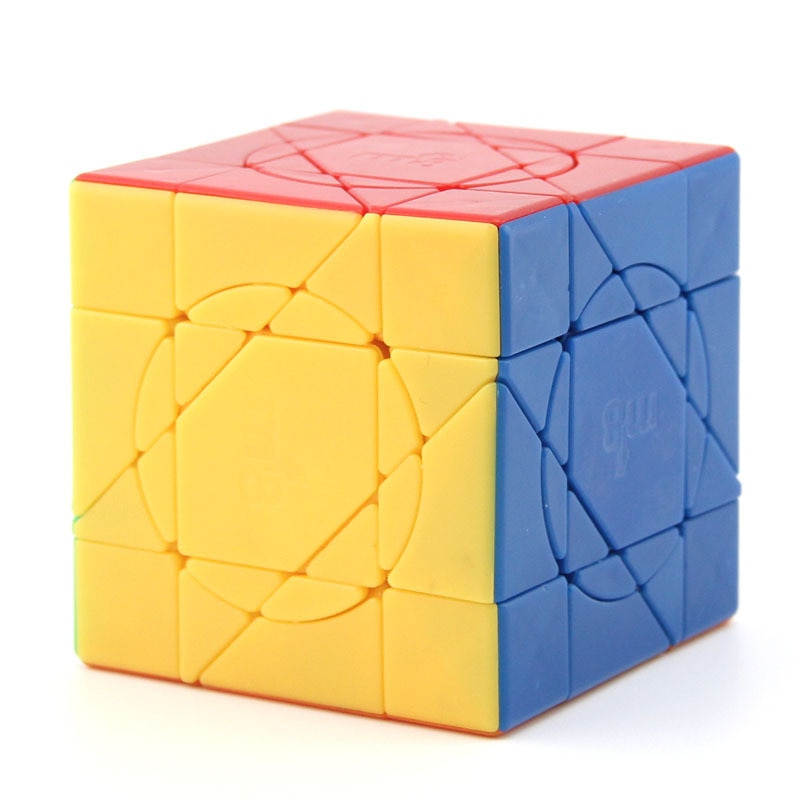 Mf8 louco unicórnio cubo sem cola