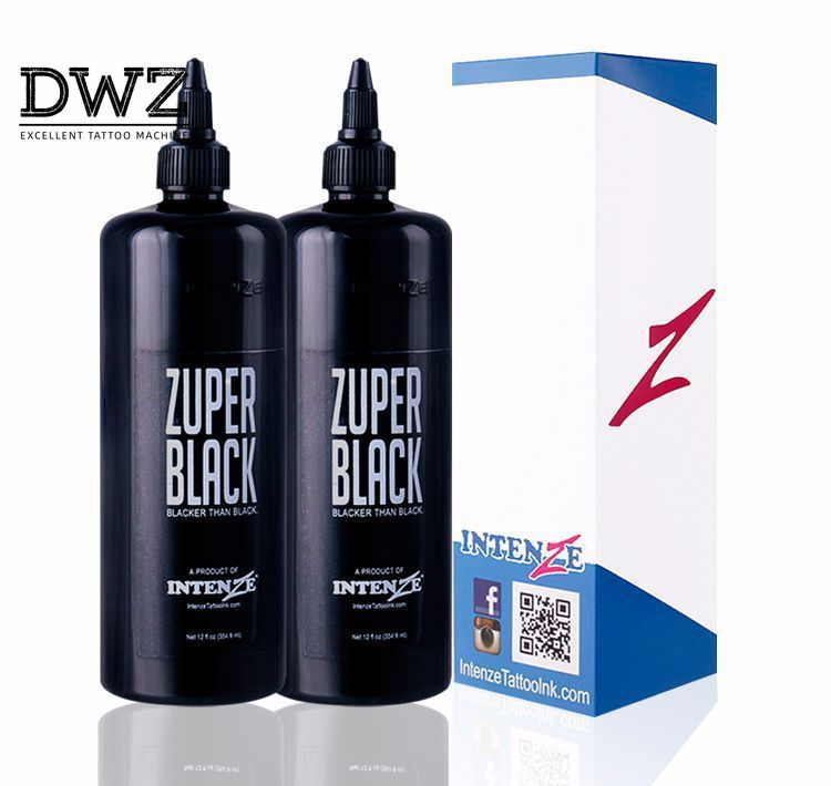Black tattoo pigment overseas ghost bottle ink machine wholesale tato pigments supplies