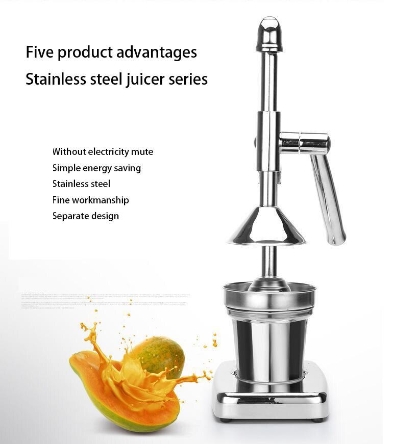 Exprimidor exprimidor manual de acero inoxidable exprimidor de zumo de fruta cítrico limón naranja extractor de zumo comercial o doméstico