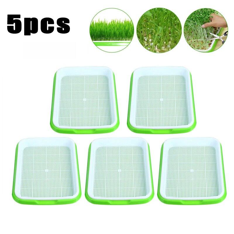 5 pairs Germinator tray Sprouts Box Case Non-toxic Holder Gardening tools Nursery Soil less Garden Grow Box Gardening Supplies