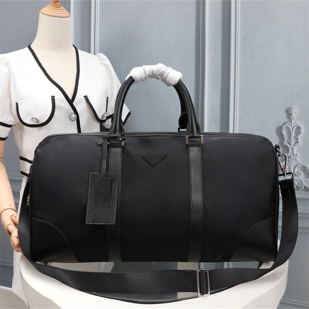 2021 men's black nylon canvas waterproof travel bag with code lock simple leisure suitcase sports large capacity handbag