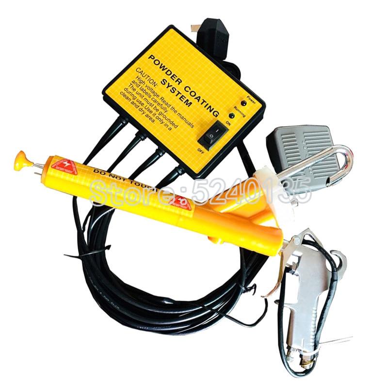 110 V/220 V portátil de Metal máquina de pulverización Mini sistema de recubrimiento en polvo PC02 pistola de pulverización electrostática