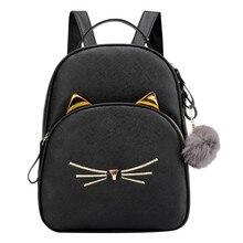MAIOUMY, Mochila pequeña para mujer, 2020, bolso de hombro con gatos bonitos, bolso cruzado con bolas de piel Kawaii para mujer, bolso de moda para chicas adolescentes, paquete